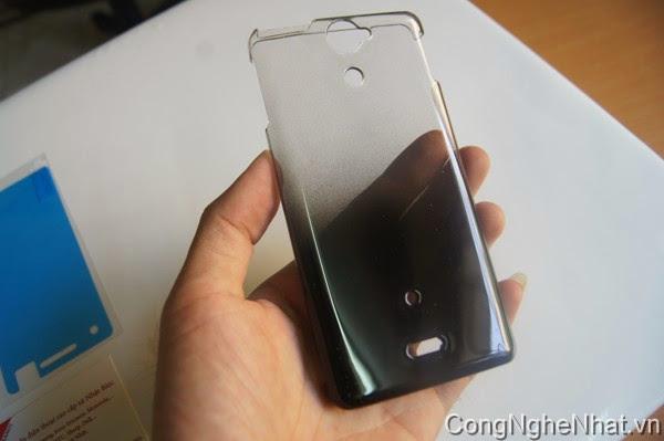 Ốp lưng Sony Xperia V (AX SO-01E) trong suốt pha đen
