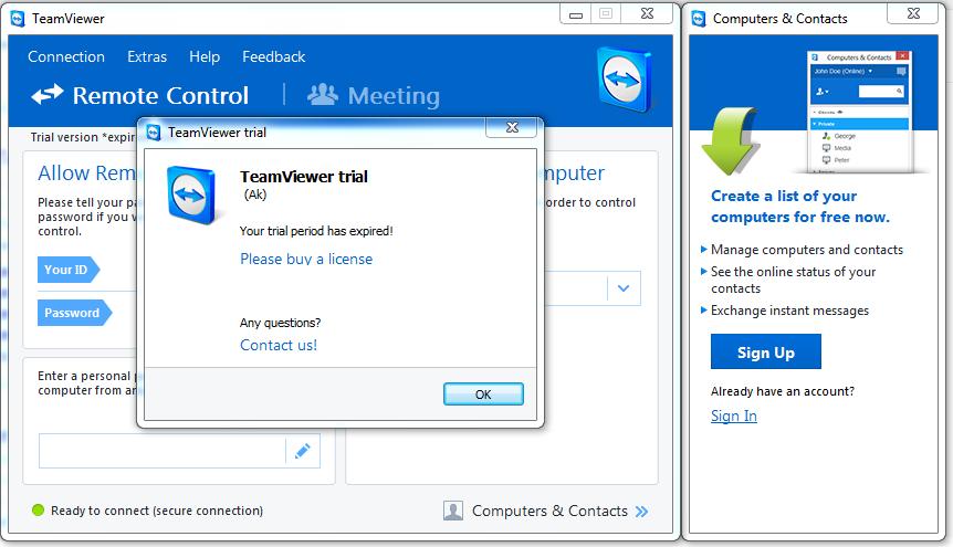 Cách khắc phục lỗi Teamviewer bị hết hạn hay Trial thành công 100% mới nhất