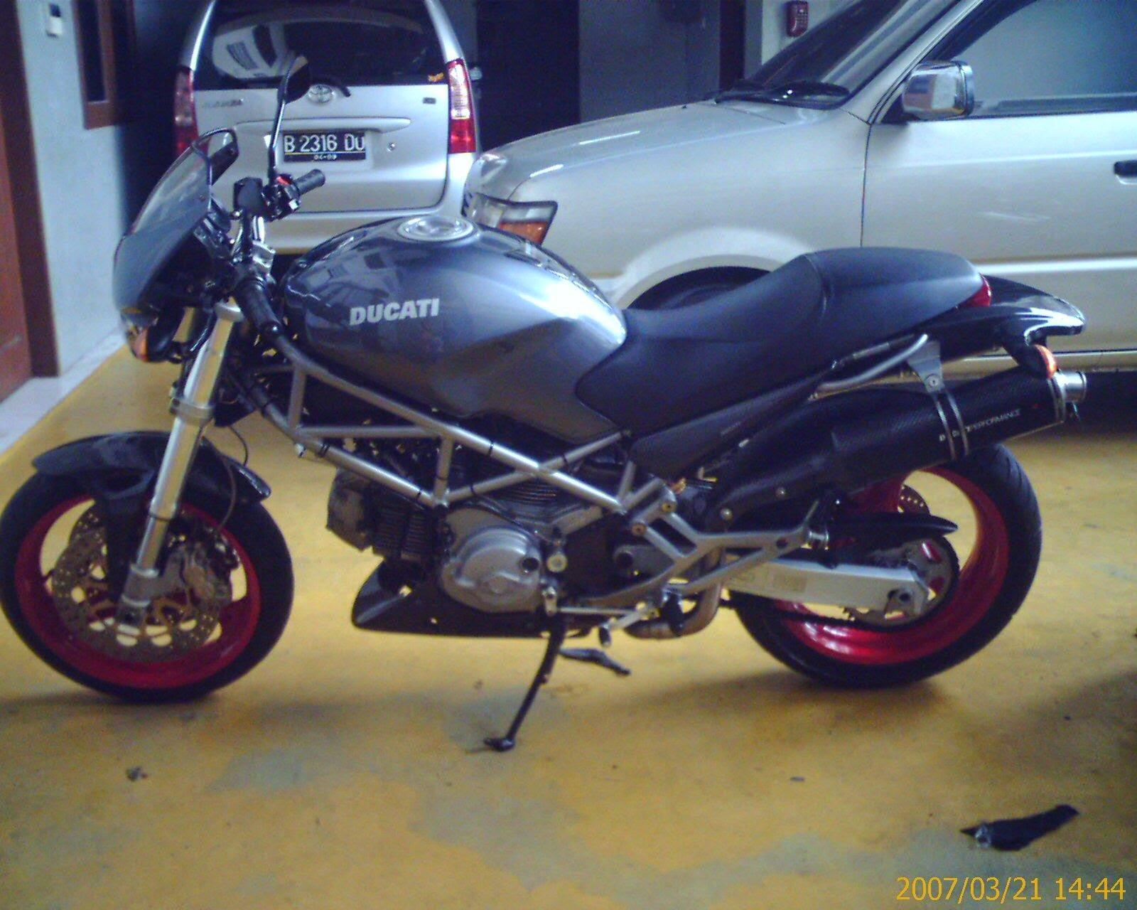 Honda Tiger Modifikasi Ducati Monster