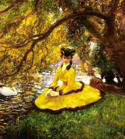 Gaston La Touche - At the riverbank