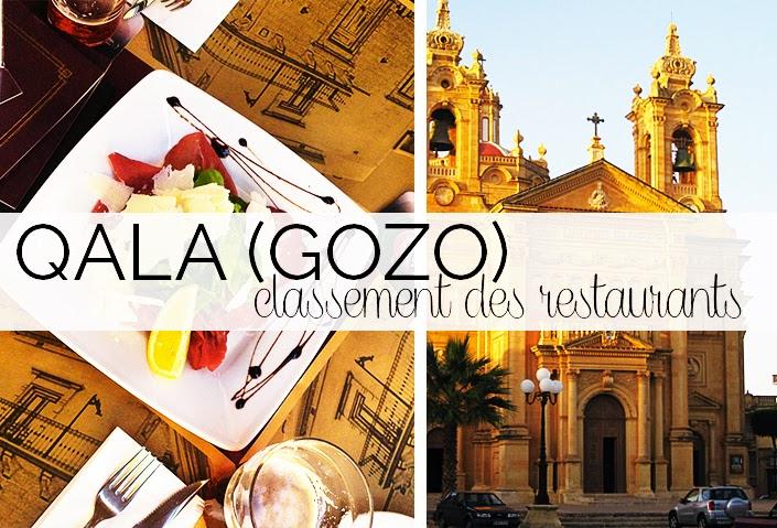 meilleurs restaurants de Gozo, où manger à Malte, bon restaurant Qala, classement des établissements de Gozo, que faire à Malte