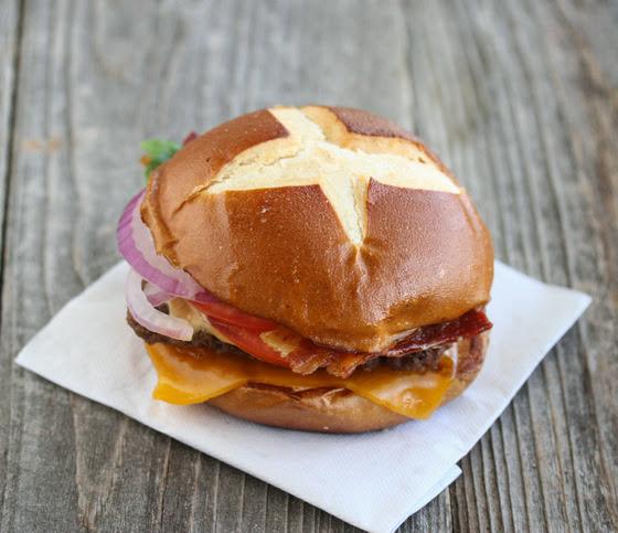 Wendy's Pretzel Burger