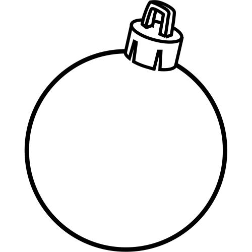 Pinto Dibujos: Esfera de navidad para colorear