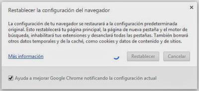 Limpiar navegadores de barras de botones indeseadas y browser hijacker manualmente