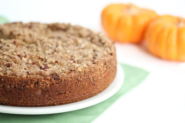 photo of a pumpkin coffee cake