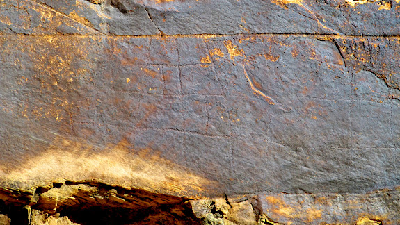 Large grid petroglyph