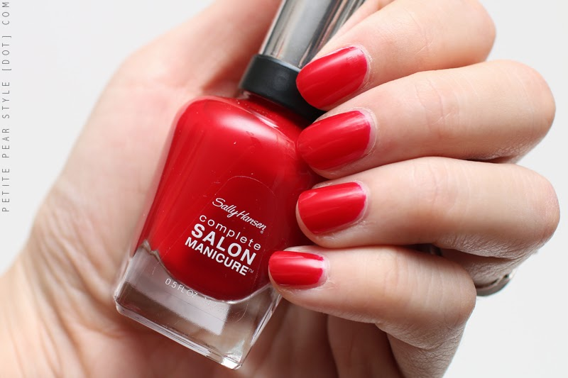 PETITE PEAR STYLE: Sally Hansen Complete Salon Manicure in Red My Lips