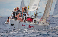 J/24 German women's sailing team- ALICE off Monaco
