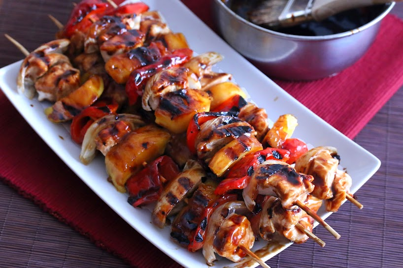 Photo of teriyaki kabobs