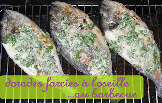 Dorades farcies à l'oseille au barbecue