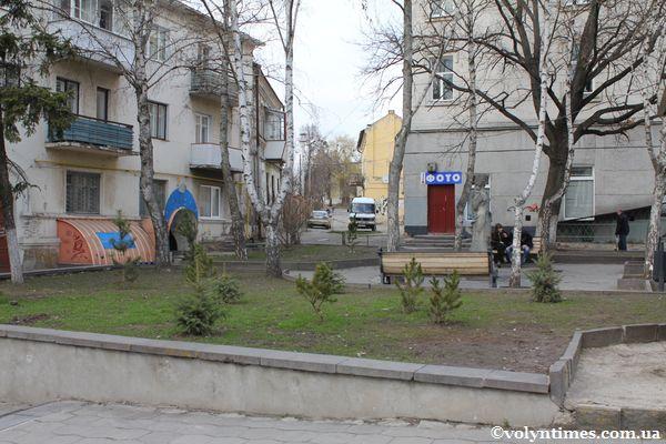 Цей сквер на вул.Лесі Українки буде знищено.