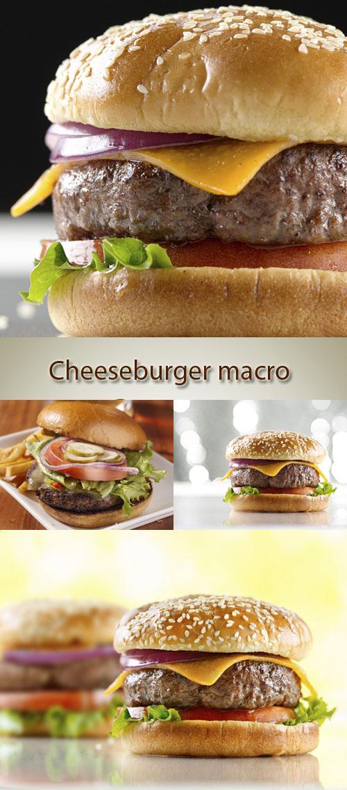 Stock Photo: Cheeseburger macro 3