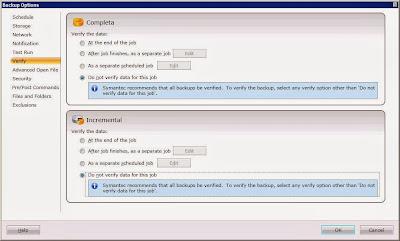 Programar tarea de copia de seguridad para backup de servidor en Symantec Backup Exec 2012