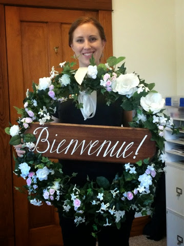 Colorado Wedding french welcome sign diy wreath bienvenue calligraphy