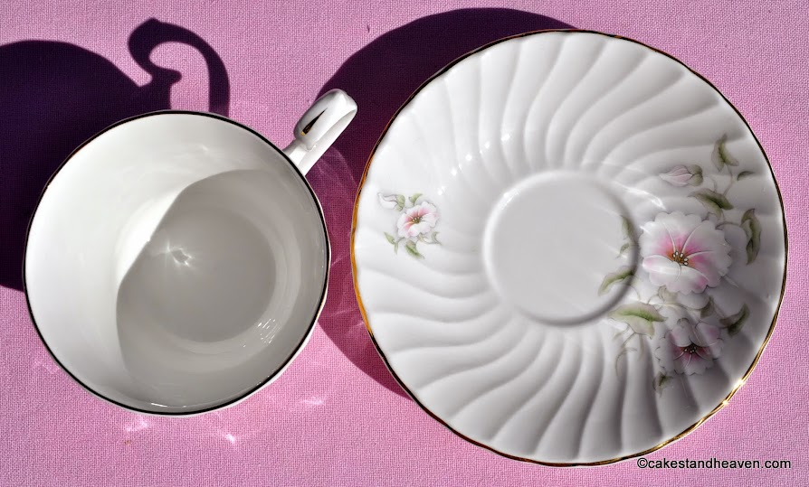 Vintage English Fluted China Pink Beauty Pattern