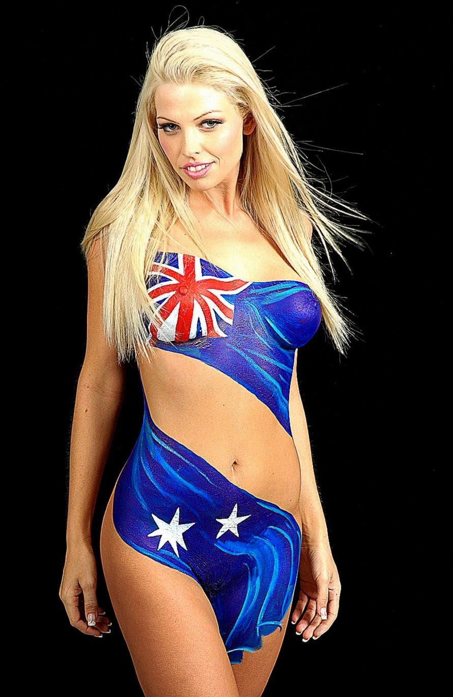 FileFemale bodypainting Australian flag   Wikimedia Commons