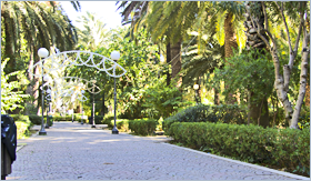 Sizilien - Corleone - Zentrale Achse des großen Stadtparks.