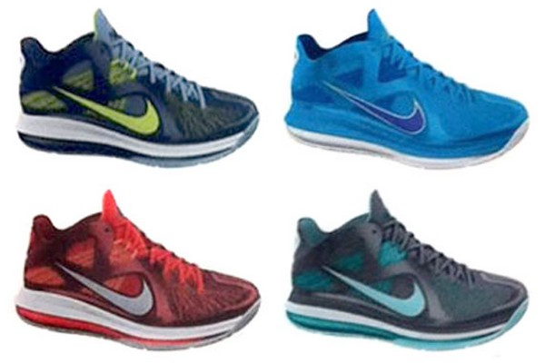 Preview of Nike LeBron 9 Low 8211 Four New Colorways
