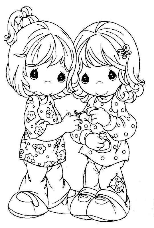Preciosos momentos para colorear amistad - Imagui
