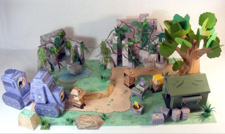 Dino Mini World Paper Toys Complete Set