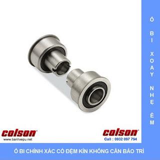 Bánh xe đẩy cao su trục ren chịu lực 80kg | STO-4854-448 sử dụng ổ bi
