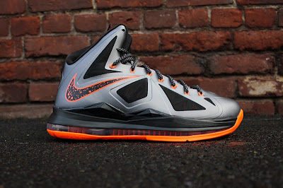nike lebron 10 gr silver black orange 5 01 Detailed Look at Lava Nike LeBron X That Drops on Saturday
