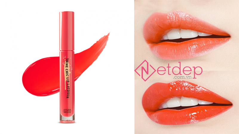 Son Etude House x Red Velvet Shine Chic Lip Lacquer OR201 Juicy Fresh