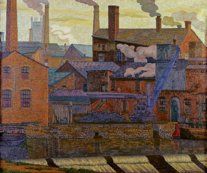 Charles Ginner - Leeds Canal