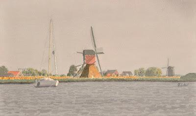 Buurtermolen Rijpwetering www.watercolours.nl/