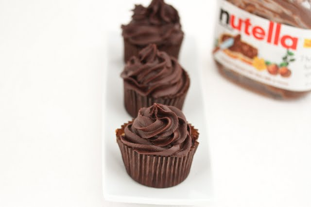 Nutella Cupcakes with Homemade Nutella frosting