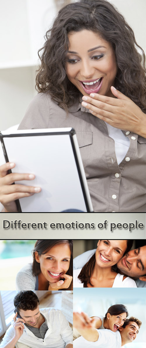Stock Photo: Different positive emotions of people