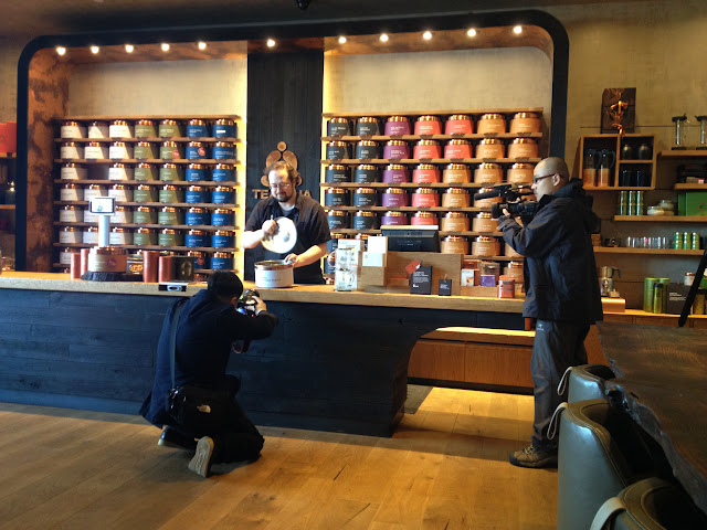 More video going on while we were here at Teavana, University Village, Seattle.