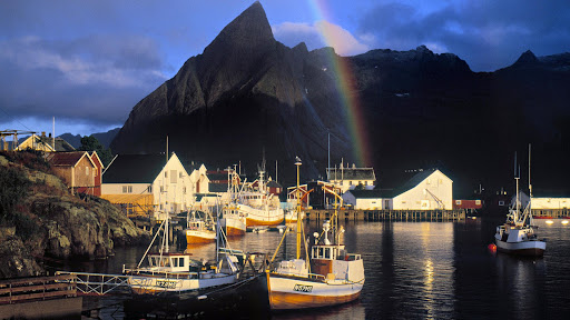 Hamnoy Rainbow, Sakrisoy Island, Lofoten Islands, Norway.jpg
