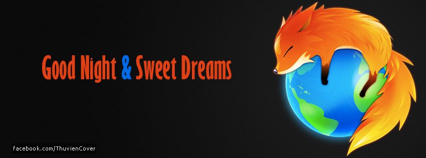 Good Night & Sweet Dreams Facebook Cover