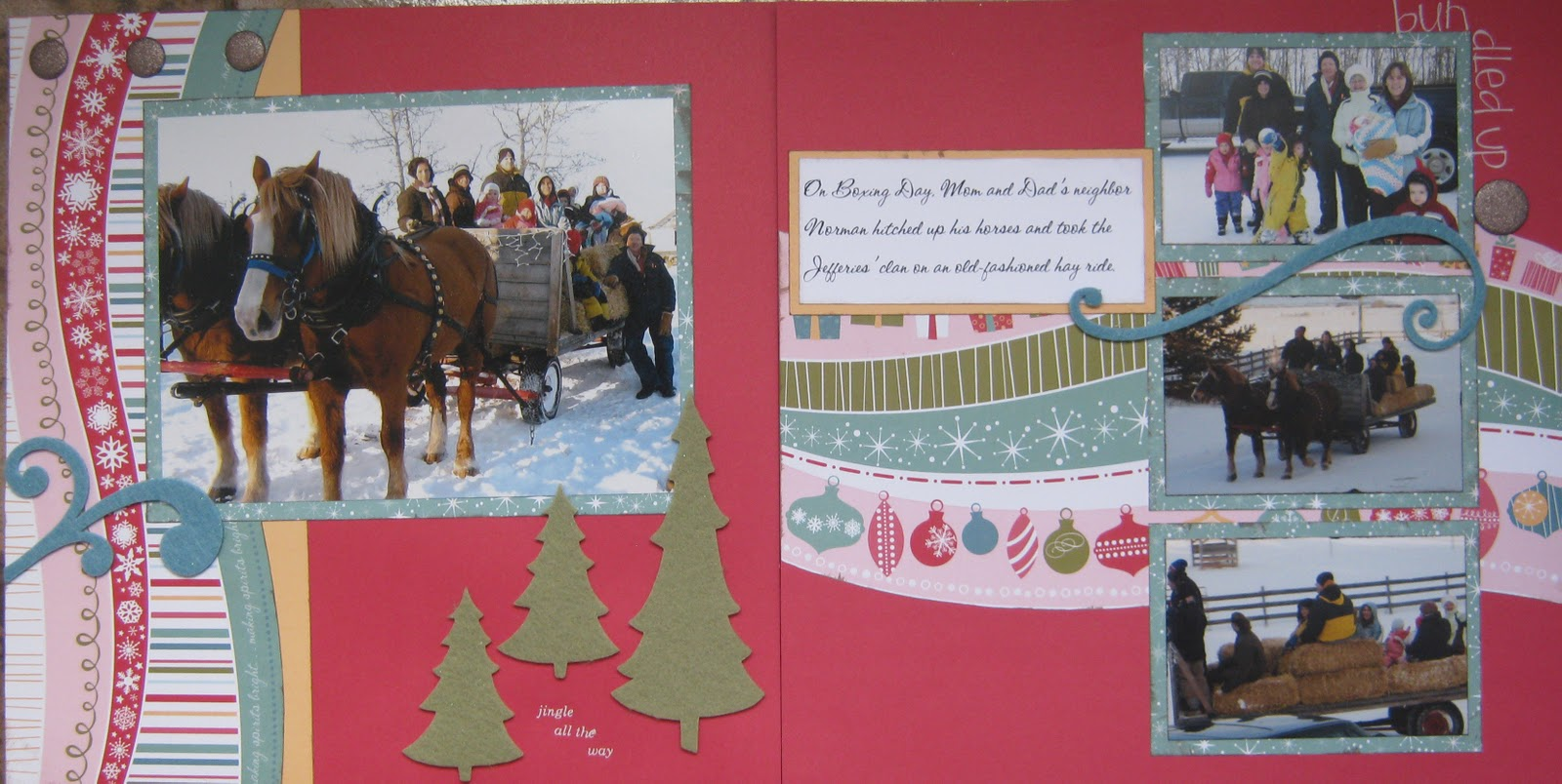 Scrapbook ideas niagara falls - I Used My Twenty Pages For All My 2008 Christmas Pictures The Whole Month Of December Here Are Four Of The Layouts
