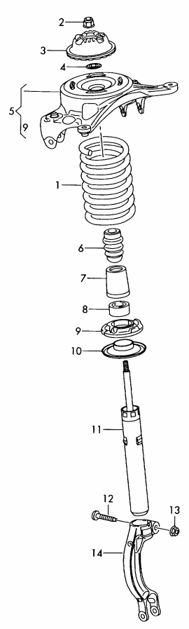 2013AR front diagram a4 and allroad oem suspension reference