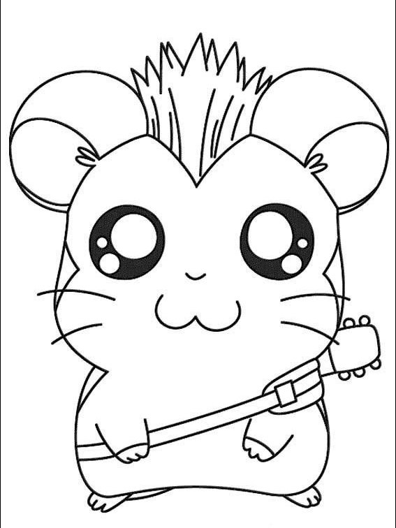 Hamtaro Coloring Pages Printable