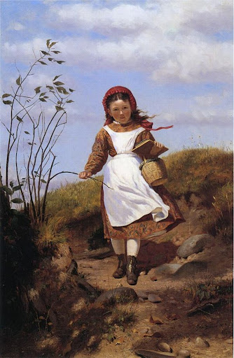 John George Brown - A Breezy Morning