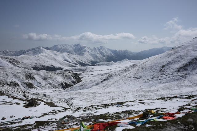 view from Laji Mountain in Qinghai, China