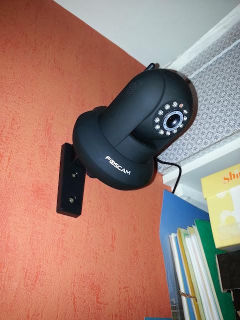Caméra au mur