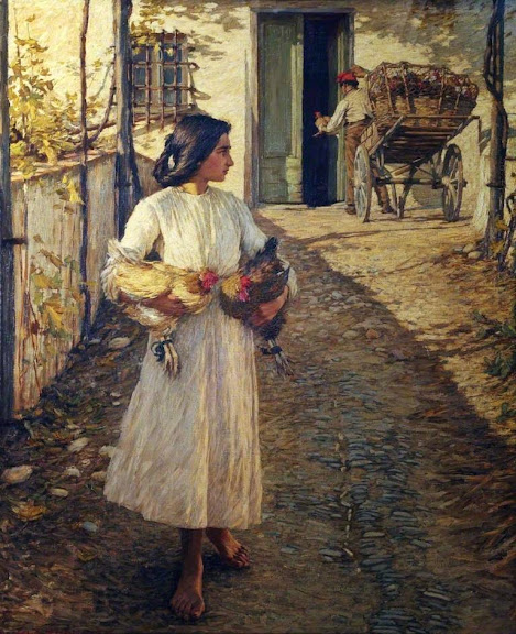Henry Herbert La Thangue - Selling Chickens in Liguria