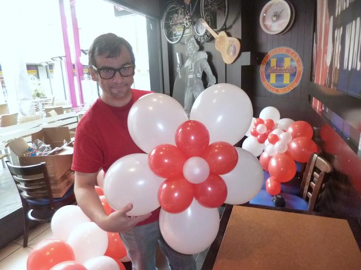 Decoracion Con Globos Flor De 5 Petalos Mago Madrid - Como-hacer-flores-de-globos