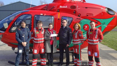 Dealership raises money for Wales Air Ambulance