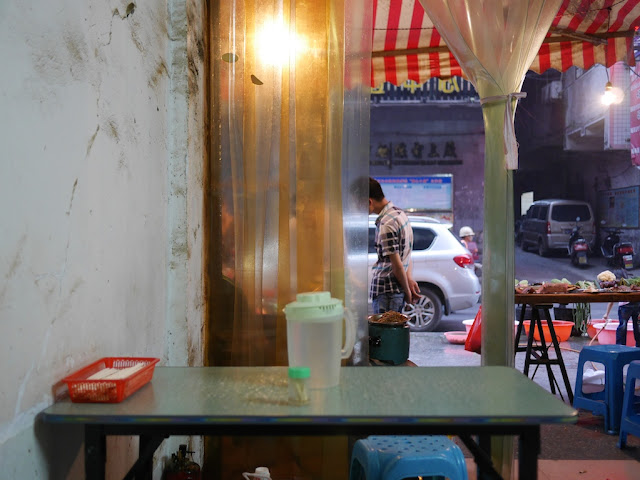 view inside a small eatery in Hengyang, Hunan