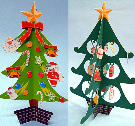 Mansei 2012 Christmas Tree Papercrafts