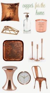 ideas de decoración en tonos cobre