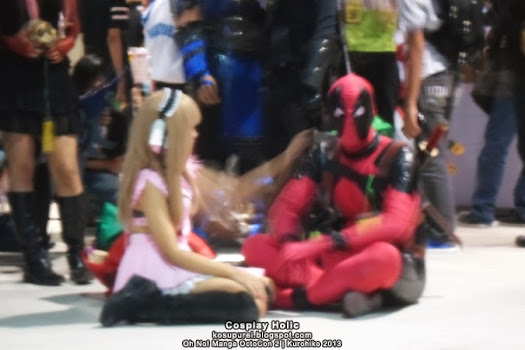chobits marvel cosplay crossover - chi and deadpool