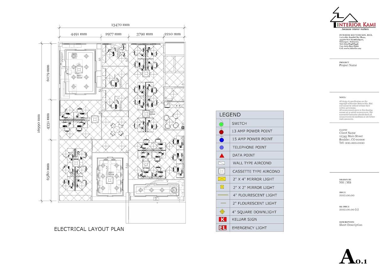 electrical & celing plan