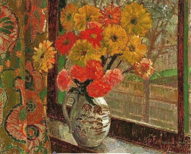 Leon De Smet – Flowers in the window