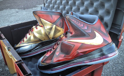 nike lebron 10 cs mache ironman 3 1 06 LBJ X Ironman 3 Custom Personalized Exclusively for Mr. James by Mache